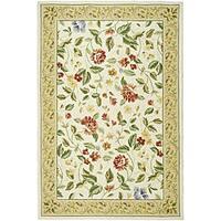 Safavieh Hand-hooked Boni Ivory/ Beige Wool Rug - 5'3' x 8'3'