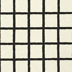 Safavieh Hand-hooked Harvest Ivory/ Black Wool Rug (7'9 x 9'9) - Thumbnail 2