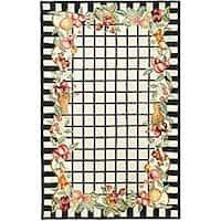 Safavieh Hand-hooked Harvest Ivory/ Black Wool Rug - 7'9 x 9'9