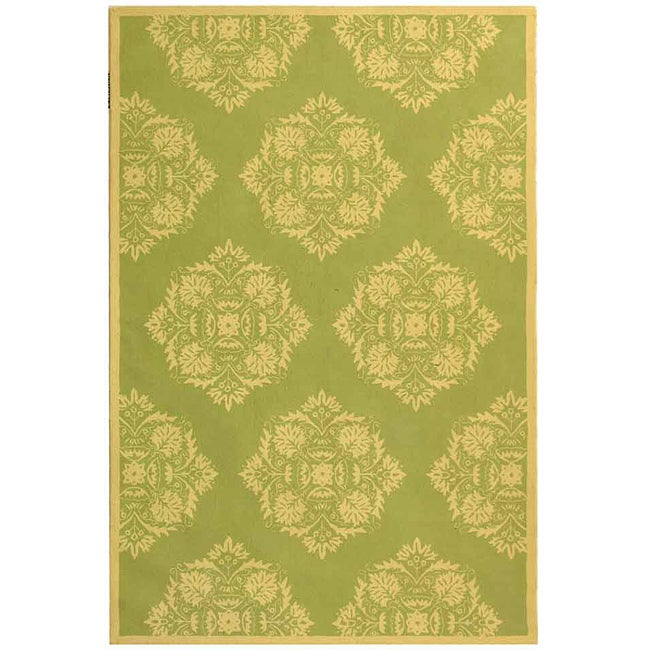 Safavieh Hand-hooked Motifa Light Green Wool Rug - 8'9 X 11'9