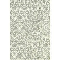 Safavieh Hand-hooked Damask Beige-Yellow/ Grey Wool Rug - 8'9 X 11'9 - Thumbnail 0