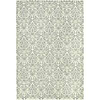 Safavieh Hand-hooked Damask Beige-Yellow/ Grey Wool Rug (8'9 x 11'9)