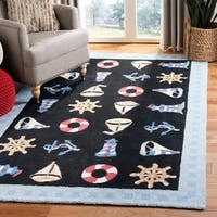 "Safavieh Hand-hooked Sailor Black Wool Rug - 3'9"" x 5'9"""