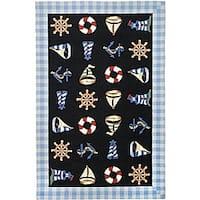 Safavieh Hand-hooked Sailor Black Wool Rug - 5'3' x 8'3'