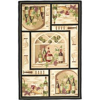Safavieh Hand-hooked Winery Gold/ Multi Wool Rug - 6' x 9'