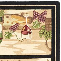 Safavieh Hand-hooked Winery Gold/ Multi Wool Rug (7'9 x 9'9)