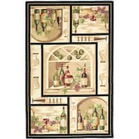Safavieh Hand-hooked Winery Gold/ Multi Wool Rug - 7'9 x 9'9