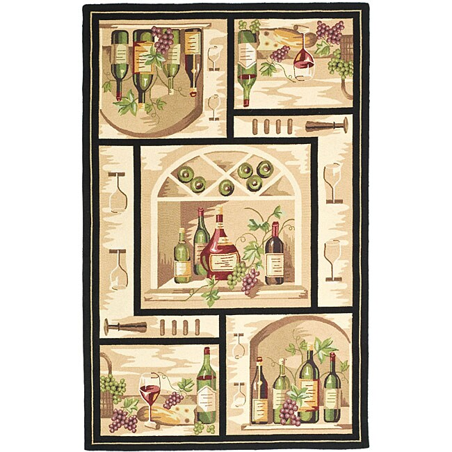 Safavieh Hand-hooked Winery Gold/ Multi Wool Rug (8'9 x 11'9)