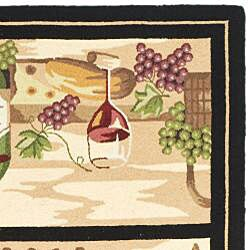 Safavieh Hand-hooked Winery Gold/ Multi Wool Rug (8'9 x 11'9) - Thumbnail 1