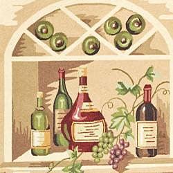 Safavieh Hand-hooked Winery Gold/ Multi Wool Rug (8'9 x 11'9) - Thumbnail 2
