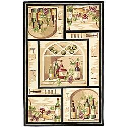 Safavieh Hand-hooked Winery Gold/ Multi Wool Rug (5'3 x 8'3)