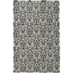 Safavieh Hand-hooked Damask Sage/ Chocolate Wool Rug (7'9 x 9'9) - Thumbnail 2