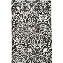 Safavieh Hand-hooked Damask Sage/ Chocolate Wool Rug (7'9 x 9'9)