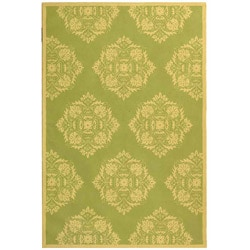 Safavieh Hand-hooked Motifa Light Green Wool Rug (5'3 x 8'3)