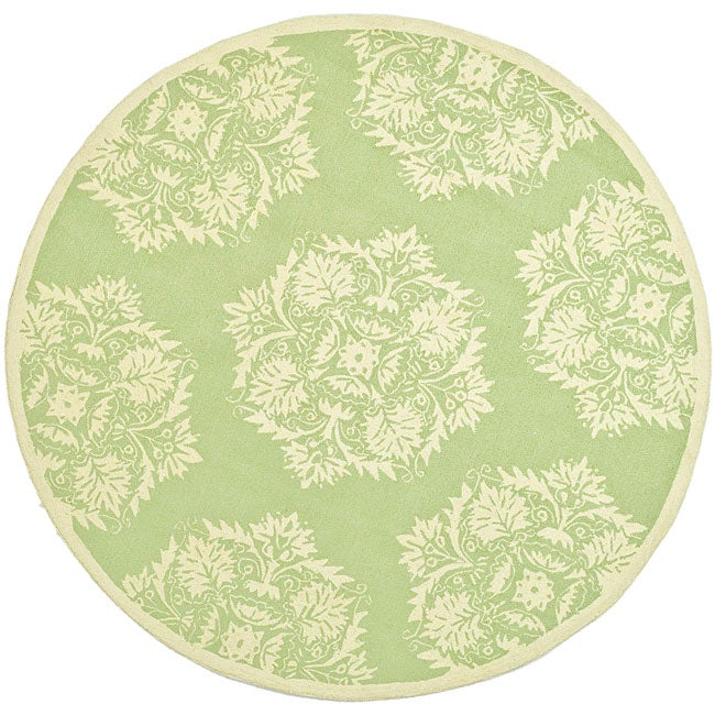 Safavieh Hand-hooked Motifa Light Green Wool Rug (6' x 9')