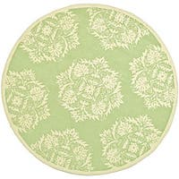 Safavieh Hand-hooked Motifa Light Green Wool Rug - 6' x 9'