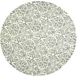 Safavieh Hand Hooked Damask Beige Yellow Grey Wool Rug 5
