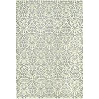 Safavieh Hand-hooked Damask Beige-Yellow/ Grey Wool Rug - 7'9 x 9'9