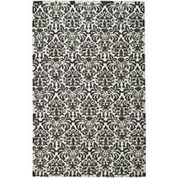 Safavieh Hand-hooked Damask Sage/ Chocolate Wool Rug (5'3 x 8'3)