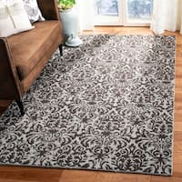 Safavieh Hand-hooked Damask Sage/ Chocolate Wool Rug - 8'9 X 11'9