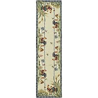 Safavieh Hand-hooked Roosters Ivory Wool Runner (2'6 x 12')
