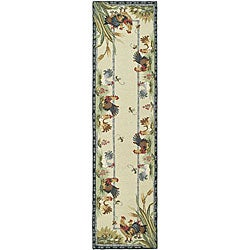 Safavieh Hand-hooked Roosters Ivory Wool Runner (2'6 x 6')