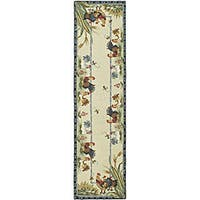 """Safavieh Hand-hooked Roosters Ivory Wool Runner - 2'6"""" x 6'"""
