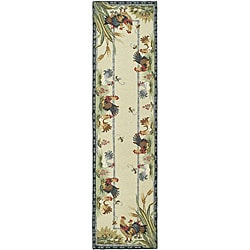 Safavieh Hand-hooked Roosters Ivory Wool Runner (2'6 x 8')