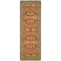 Safavieh Couture Old World Hand-Knotted Red/ Navy Wool Runner Rug (2'6 x 8')