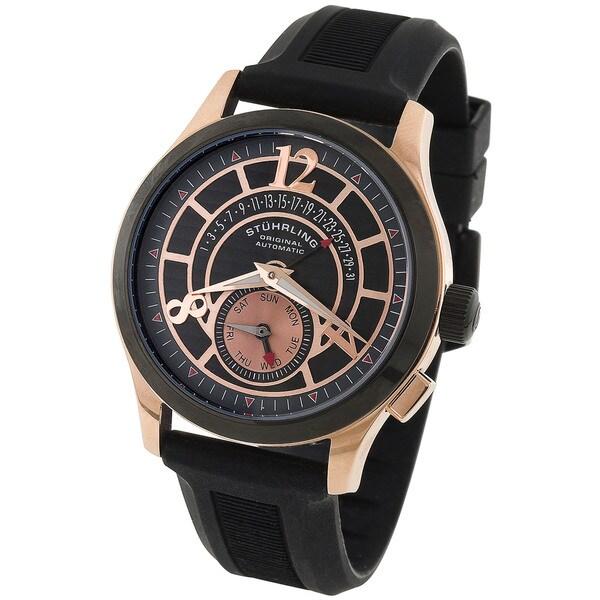 Stuhrling Original Black and Rosetone Men's Baily Automatic Watch