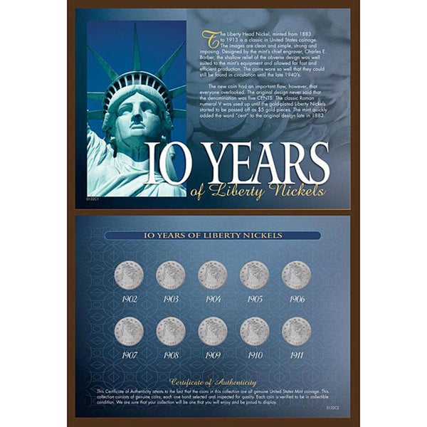 American Coin Treasures '10 Years of Liberty Nickels' Coin Collection