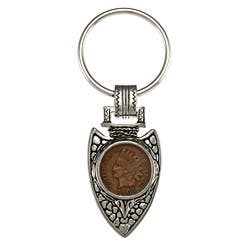 American Coin Treasures Indian Cent Silvertone Arrowhead Keyring|https://ak1.ostkcdn.com/images/products/4447387/American-Coin-Treasures-Indian-Cent-Silvertone-Arrowhead-Keyring-P12401604a.jpg?impolicy=medium