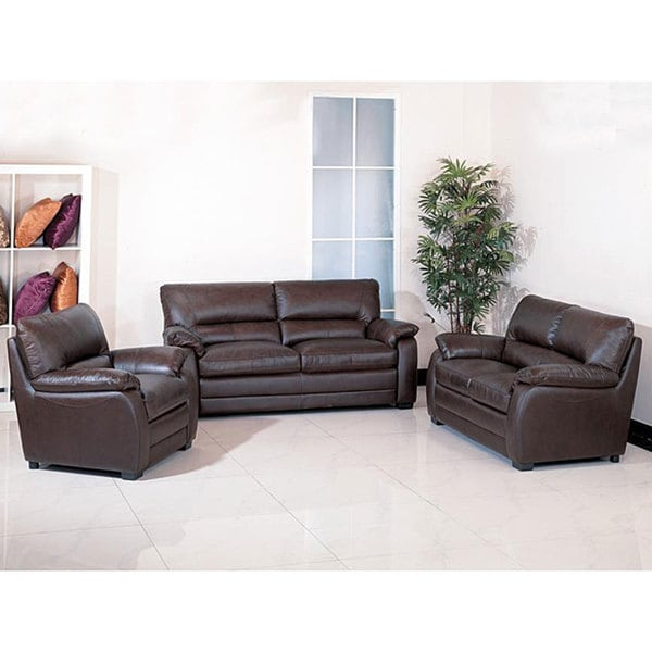 wilshire premium italian leather living room furniture set