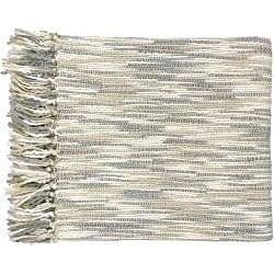 Cream/ Grey Throw Blanket and Decorative Pillows