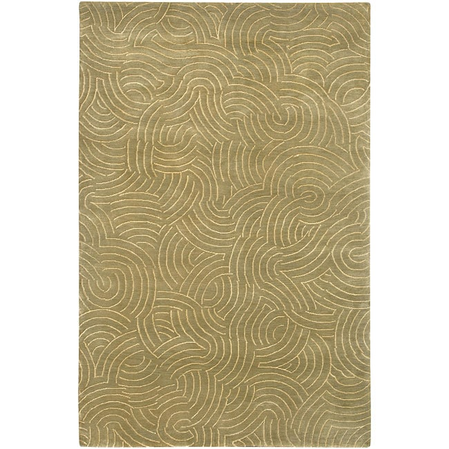 Hand-knotted Royal Abstract Design Wool Area Rug - 4' x 6'