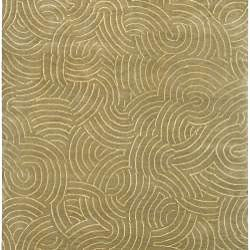 Hand-knotted Royal Abstract Design Wool Rug (4' x 6') - Thumbnail 1