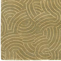 Hand-knotted Royal Abstract Design Wool Rug (4' x 6') - Thumbnail 2