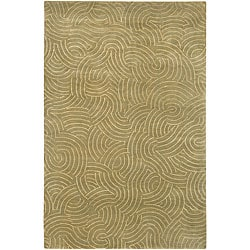 Hand-knotted Royal Abstract Design Wool Rug (4' x 6')