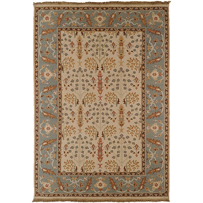 Hand Knotted Legacy New Zealand Fl Multi Color Wool Area Rug 9