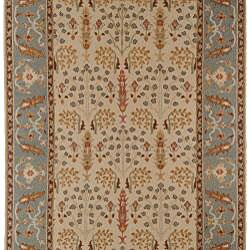 Hand-knotted Legacy New Zealand Floral Multi-Color Wool Rug (9' x 12') - Thumbnail 1