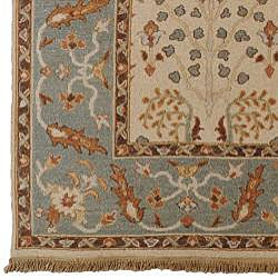 Hand-knotted Legacy New Zealand Floral Multi-Color Wool Rug (9' x 12') - Thumbnail 2