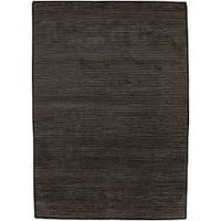Hand-knotted Solid Brown Casual Karur Semi-Worsted Wool Area Rug (9' x 13')