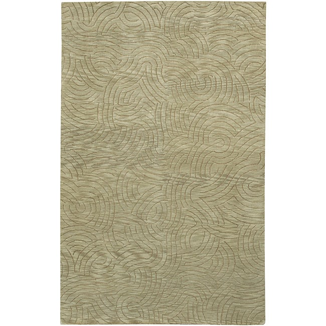 Hand-knotted Legacy Abstract Design Wool Rug (4' x 6')