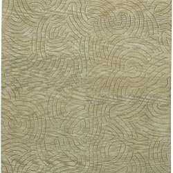 Hand-knotted Legacy Abstract Design Wool Rug (4' x 6') - Thumbnail 1