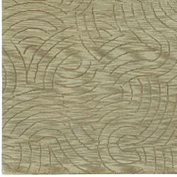 Hand-knotted Legacy Abstract Design Wool Rug (4' x 6') - Thumbnail 2