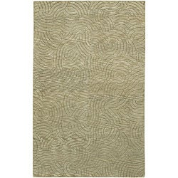 Hand-knotted Legacy Abstract Design Wool Area Rug - 4' x 6' - Thumbnail 0