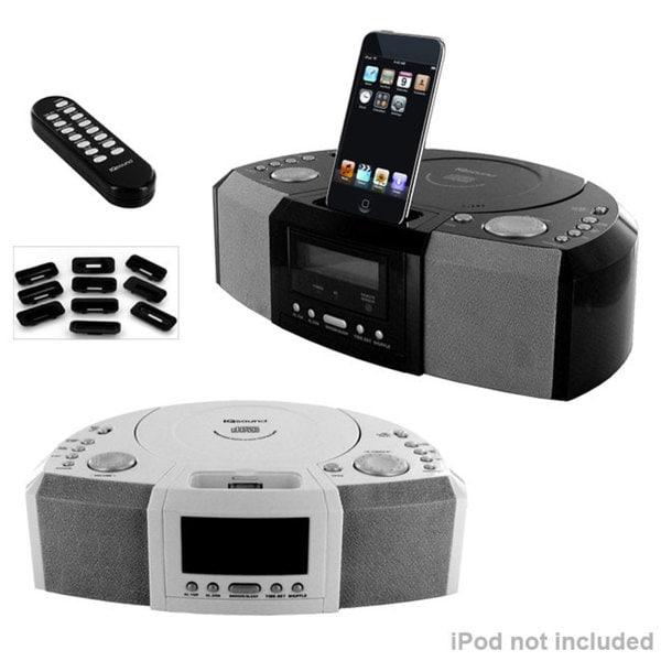 IQ-Sound iPod Dock CD Clock Radio Speaker System