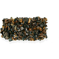 Glitzy Rocks Multi-row Tiger's Eye Chip Bracelet