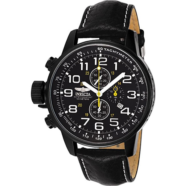 Invicta Men's 3332 Lefty Chronograph Leather Black Watch