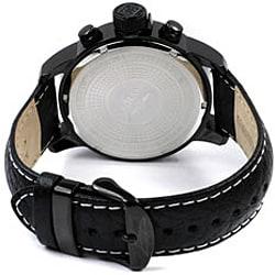 Invicta Men's 3332 Lefty Chronograph Leather Black Watch - Thumbnail 1